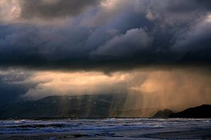 Distant Rain. The picture was taken at Ocean B...