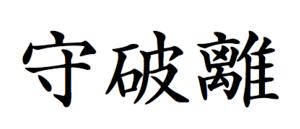 English: Shuhari, Japanese