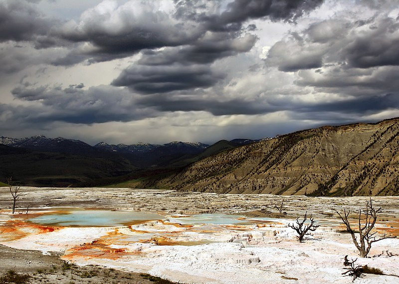 File:Upper Terraces of Mammoth Hot Springs.jpg