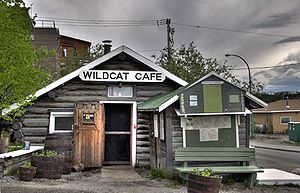 English: Entrance to the Wildcat Cafe in the O...