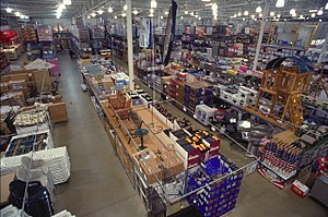Wide angle view of BJ's Wholesale club in VA.