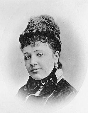 Portrait of the soprano Emma Albani (1847-1930...