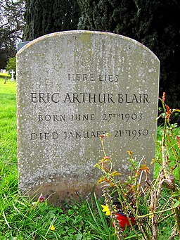 Grave of Eric Arthur Blair (George Orwell), All Saints, Sutton Courtenay - geograph.org.uk - 362277
