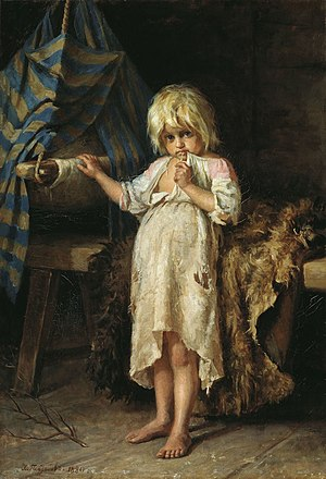 Hariton Platonov. The Little Baby-Sitter (1880)