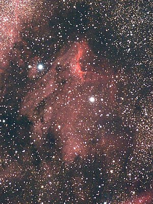 Object: The Pelican Nebula (IC 5070) in Cygnus...