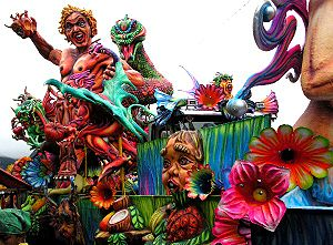 Carnival float in the Carnival of Blacks and W...