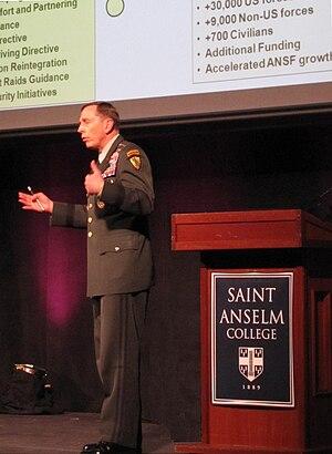 English: Petraeus at Saint Anselm College