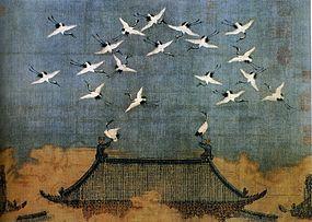 Imperatore Huī Zōng, Gru sul palazzo imperiale (XII secolo)