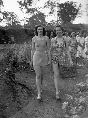 Swimsuit fashion parade at Government House, B...
