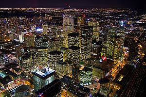 English: Toronto view from CN tower. Picture f...