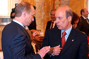CONSTANTINE PALACE, STRELNA. President Putin a...