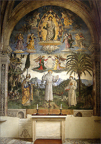 English: Bernardino of Siena between Louis of ...