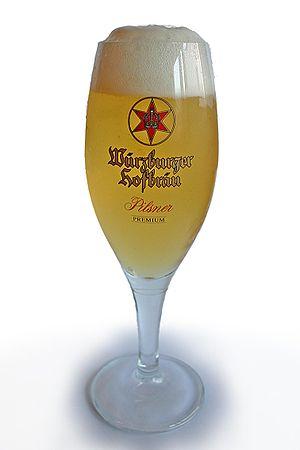 """Glas of german """"Würzburger Hofbräu"""" ..."""