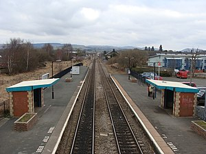 English: Craven Arms station from the footbridge