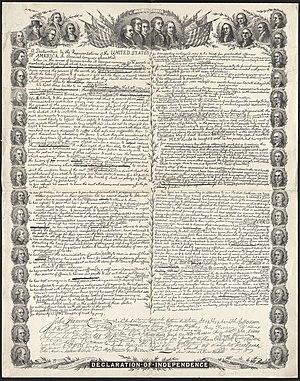 Facsimile of the original draft of the United ...