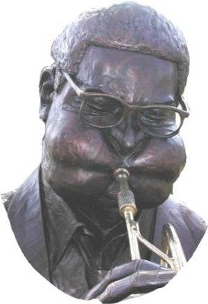 Statue of Dizzy Gillespie in his hometown Cher...
