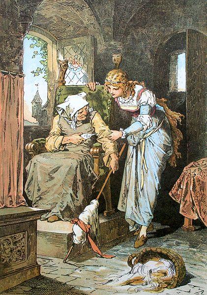 Sleeping Beauty; Darstellung von Alexander Zick (1845 - 1907) cc Wikimedia