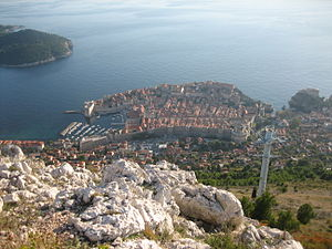 View of the Old Town of Dubrovnik from Srđ mou...