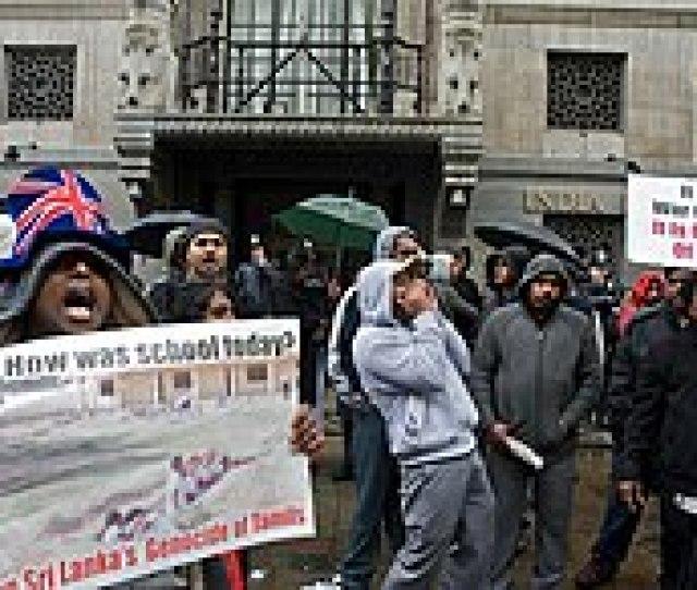 Tamils Protesting Against The Sri Lankan Civil War Outside India House