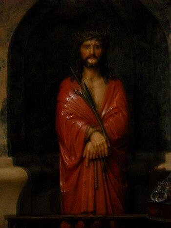 English: Jesus Christ baroque sculpture in Hol...