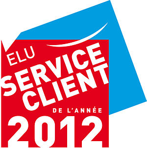 Français : Voted customer service of the year ...