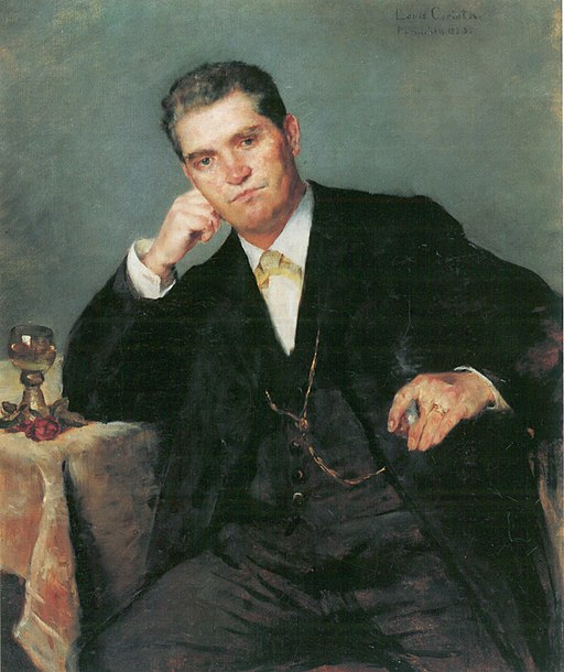 Portrait of father Franz Heinrich Corinth with Wineglass