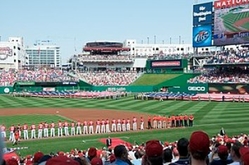 The opening ceremony for Washington Nationals