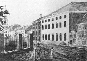 The Park Theatre c. late 1820s. The theatre ha...