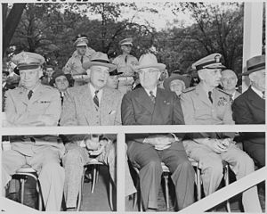 Photograph of President Truman and other digni...