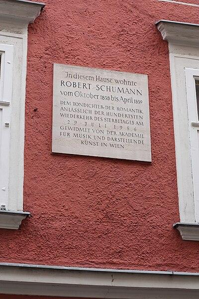 Robert Schumann Wohnhaus Wien