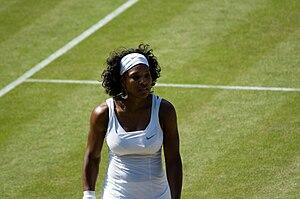 Serena Williams at the 2008 Wimbledon Champion...