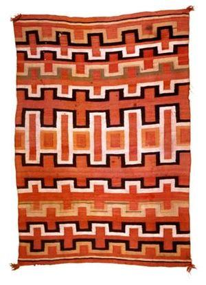 A Navajo rug made circa 1880