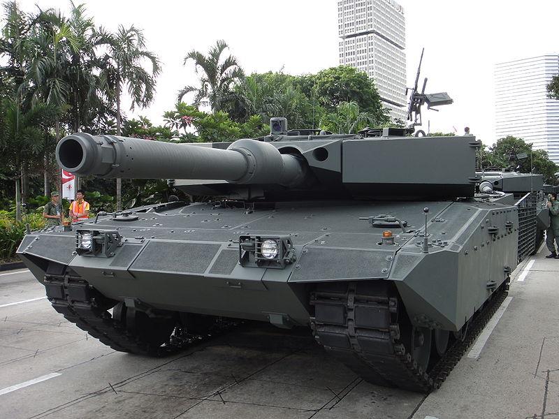 Leopard 2 del ejercito de Singapur