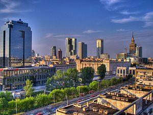 English: Warsaw Downtown skyline
