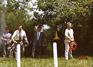 English: Ion Iliescu and Ceausescu Family in V...