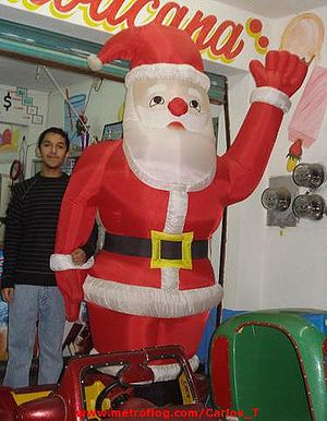 Blow Up Santa Claus Christmas