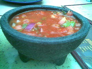 Bowl of salsa