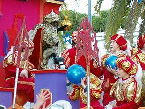 Español: Cabalgata de Reyes Magos en El Puerto...