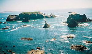 islands and rocks of California Coastal Nation...