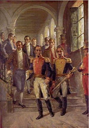 Simón Bolivar, Francisco de Paula Santander y ...