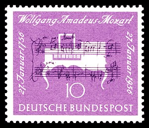 200th day of birth of Wolfgang Amadeus Mozart ...