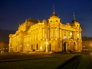 Croatian National Theater in Zagreb, Croatia H...
