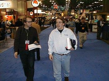 Linus Torvalds at Linuxworld 2000 in NewYork C...