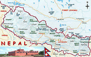 Location of Lumbini, Nepal.