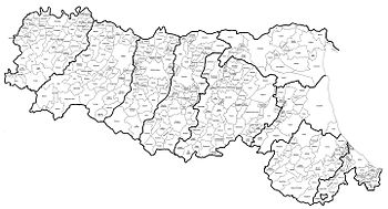 Cartina Muta Emilia Romagna.Emilia Romagna Cartina Fisica E Politica Drkevinos