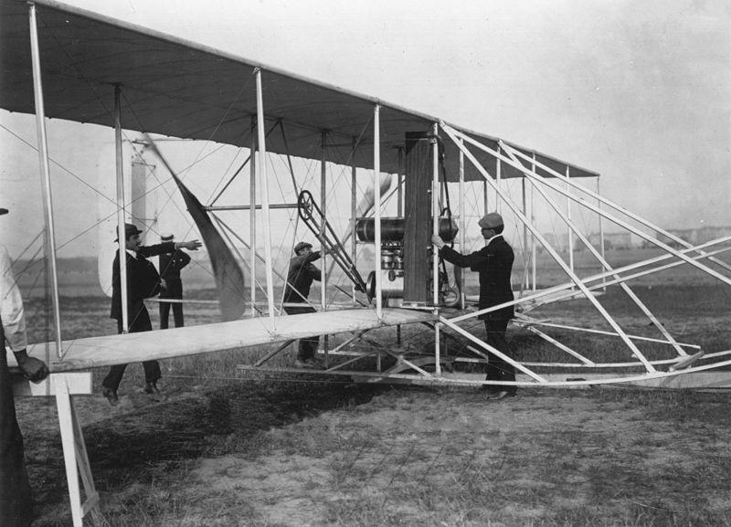 File:Orville Wright&flyer1909.jpg