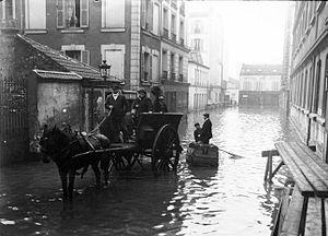 Français : Inondations de Paris, 31 janvier 19...