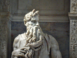 Statue of Moses by Michelangelo, church San Pi...