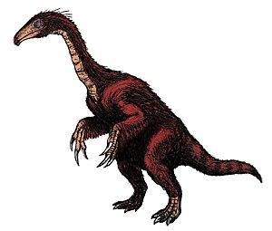Segnosaurus galbinensis based loosely on a ske...