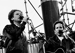 Singer-Songwriter duo Simon & Garfunkel perfor...